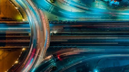 expressway top view road traffic important infrastructure thailand